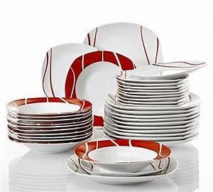 Geschirrset Für 12 Personen : malacasa serie felisa 36 tlg geschirrset aus porzellan tafelservice mit je 12x speiseteller ~ Orissabook.com Haus und Dekorationen