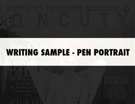 Pen Portrait Writing Sample Bjorn Johnson