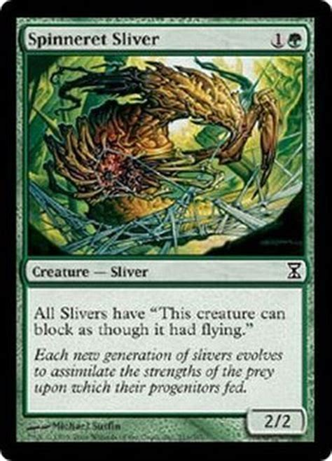 Magic Sliver Deck Ideas by Spinneret Sliver Time Spiral Singles Magic The Gathering