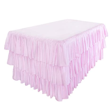pink kitchen tablecloth ruffle tablecloth
