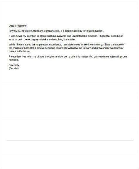 letters  apology   word  documents
