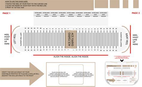 Shoe Width Measuring Chart