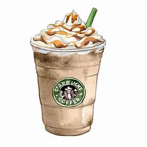 Starbucks Caramel Frappuccino - Wall Decor - Kitchen Art ...