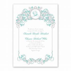 disney fairy tale filigree invitation ariel invitations With disney ariel wedding invitations