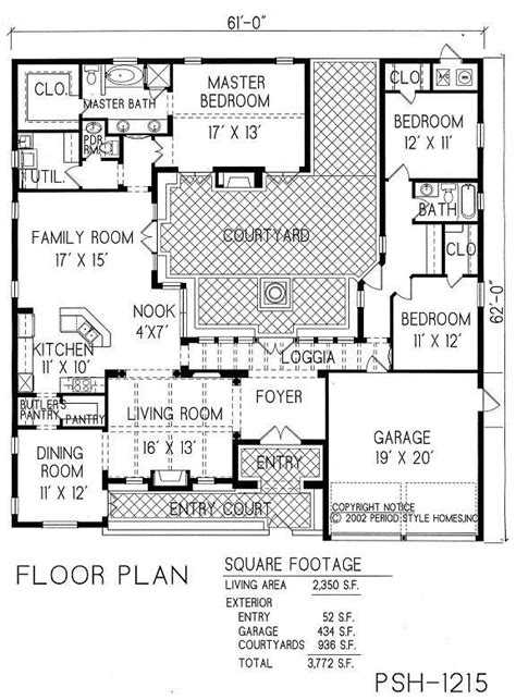 projects ideas  story house plans  courtyard center courtyard house plans courtyard