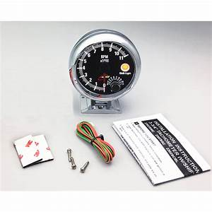 95mm Analog White Led Backlight Display Tachometer