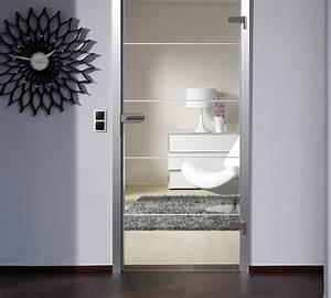 portes en verre avec chambranle en bois menuiserie weber With porte d entrée pvc avec plan verre salle de bain