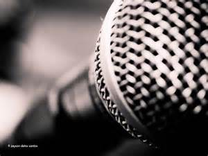 Black and White Photography Microphone