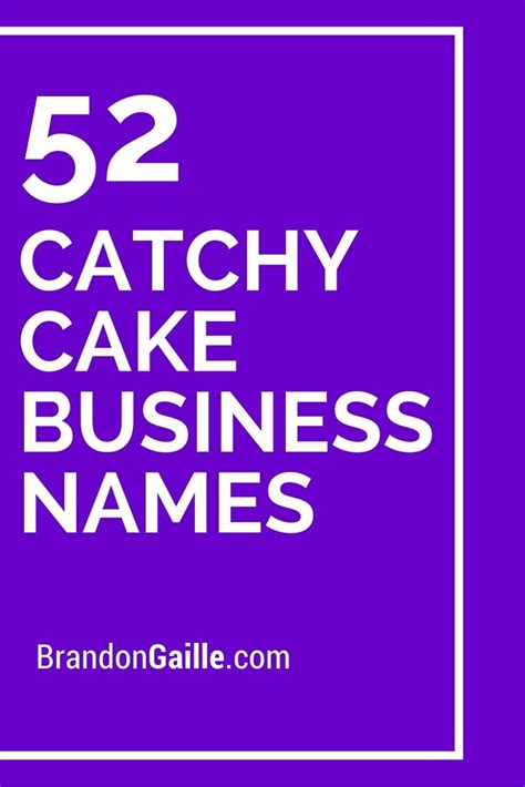 cute  catchy cake business names bakery business