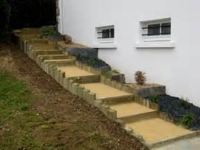 Escalier Rondin Bois Exterieur by Escalier En Bois Paysag 233 13 Messages