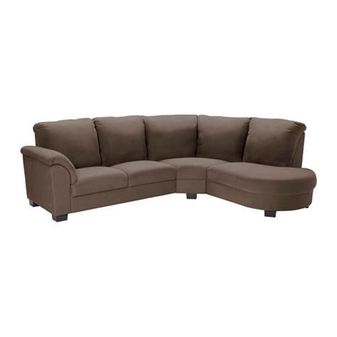 tidafors corner sofa with arm left dansbo medium brown
