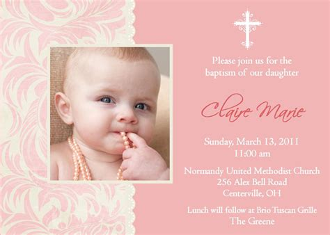 baptism invitations  girl christening invitation