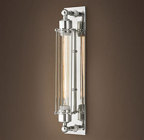 grand edison caged sconce