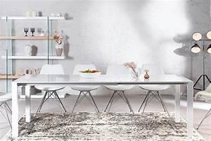 Designer Hängelampen Esstisch : ausziehbarer design esstisch x7 wei hochglanz 140 215 cm riess ~ Markanthonyermac.com Haus und Dekorationen