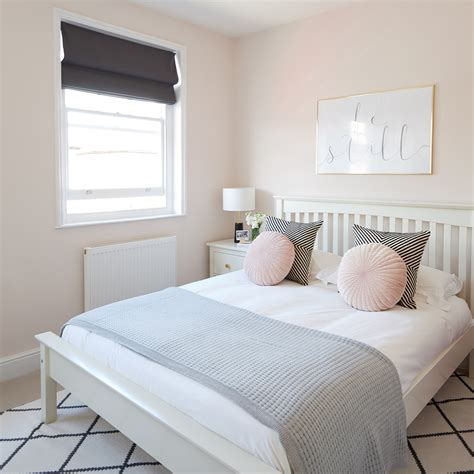 monochrome bedroom makeover  touches  gold  pale pink