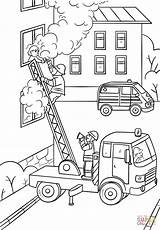 Fireman Coloring Fire Truck Ladder Firefighter Climbing Pages Fighter Drawing Save Printable Colouring Sketch Template Bestcoloringpagesforkids Sheets Sketches Trucks Activity sketch template