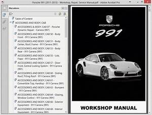 Porsche 991  2011-2015  - Service Manual