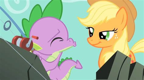 spike spike kissing applejack hoho  lover boy