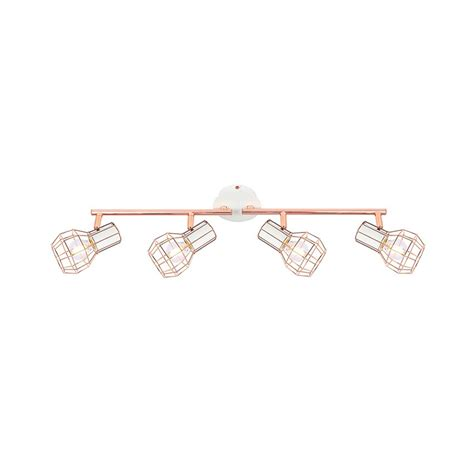 lada applique applique a soffitto orientabile lada 4 faretti rame