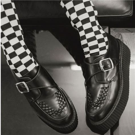 King tut creeper - black leather - single sole ...
