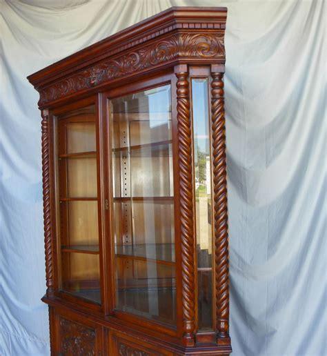 antique oak corner china cabinet bargain s antiques antique quartered oak 7482