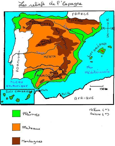 Acheter Carte Du Monde En Relief by Info Espagne Castille Geographie