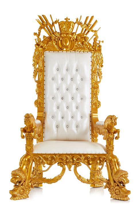 neverland throne chair white gold throne kingdom