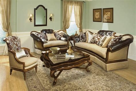 formal living room sets salvatore antique style button tufted living room sofa set