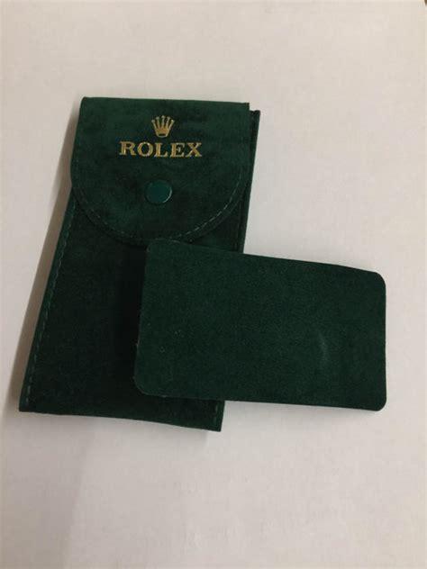 Porta Orologio by Rolex Porta Orologio Da Viaggio In Velluto Verde Usato In