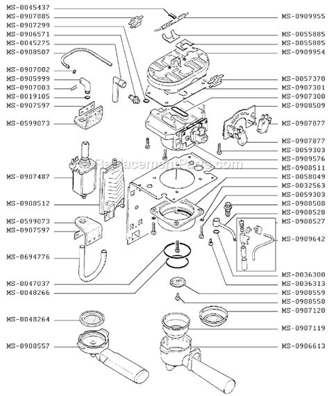 Espresso Maker Schematic by Krups 968 41 Parts List And Diagram Ereplacementparts