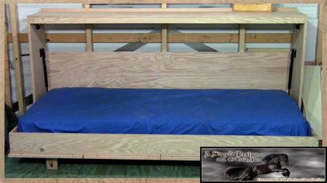 build a bed building a murphy bed 1