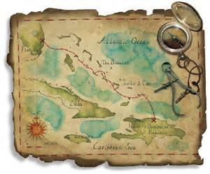 Old Caribbean Pirate Maps