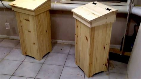 wooden trash can preview