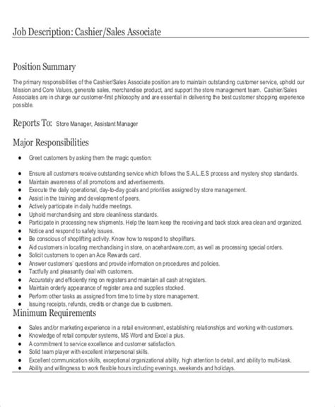 Stock Associate Description For Resume by Cashier Duties And Responsibil Best Resumes