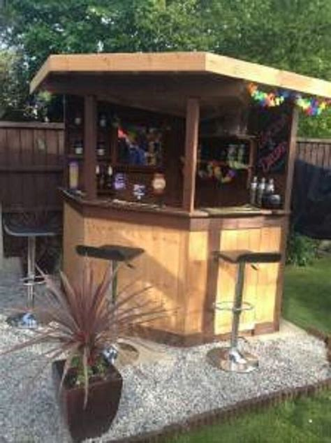 ft deluxe corner garden bar pub entertaining area outdoor