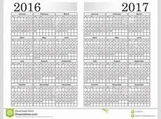 ΗΜΕΡΟΛΟΓΙΟ 20162017 διανυσματική απεικόνιση εικονογραφία