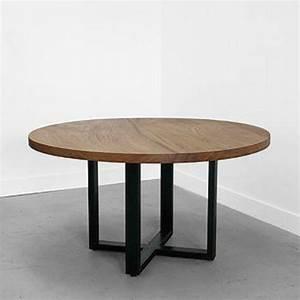 Table Ronde Industrielle : am ricaine moderne en fer forg bois table th de table caf simple rond r tro mash tables ~ Teatrodelosmanantiales.com Idées de Décoration