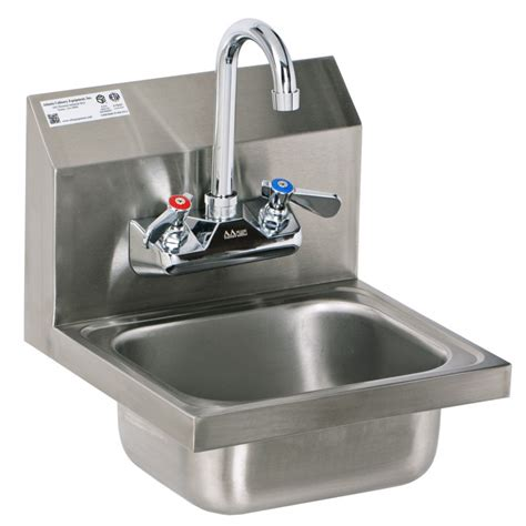indoor no plumbing sink stainless steel wall mount hand sink with no lead faucet