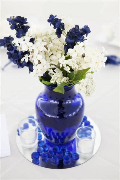 blue  white flowers  cobalt blue vase wishful thinking
