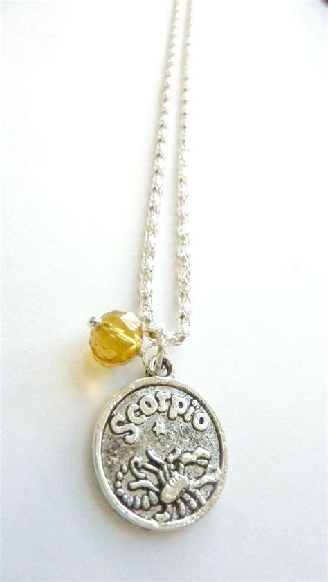november birthstone jewelry scorpio necklace november birthstone zodiac jewelry topaz