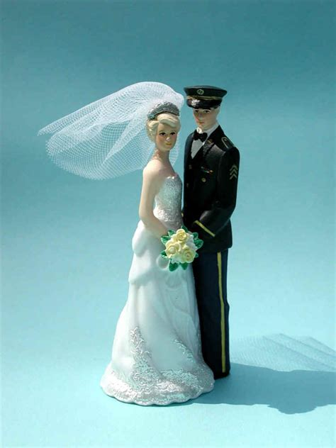 military wedding cake toppers