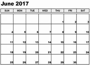 Blank June Calendar 2017 Templates - Best Calendar ...