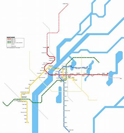 Nanchang Metro China Map Cn Urbanrail Asia
