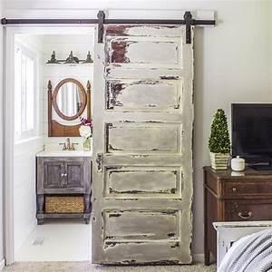 faire une porte coulissante avec une ancienne porte With faire une porte coulissante