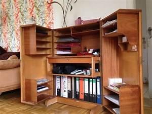 Sekretär Modern Design : 60er mid century vintage teak schreibtisch schrank ~ Watch28wear.com Haus und Dekorationen