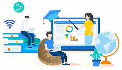 Learning Virtual Elearning Classroom Training Bg Environment
