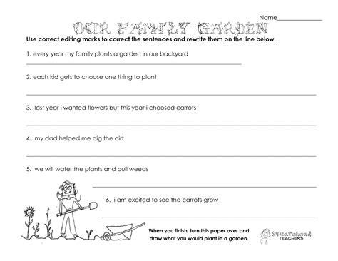 family garden grammar worksheet squarehead teachers