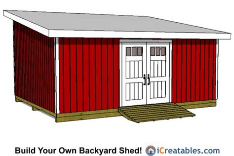 lean to shed plans 12 x 16 crafter