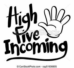 Word expression for high five incoming illustration vector ...