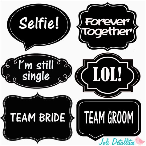 Photo Booth Props Printable Templates Wedding Props Word
